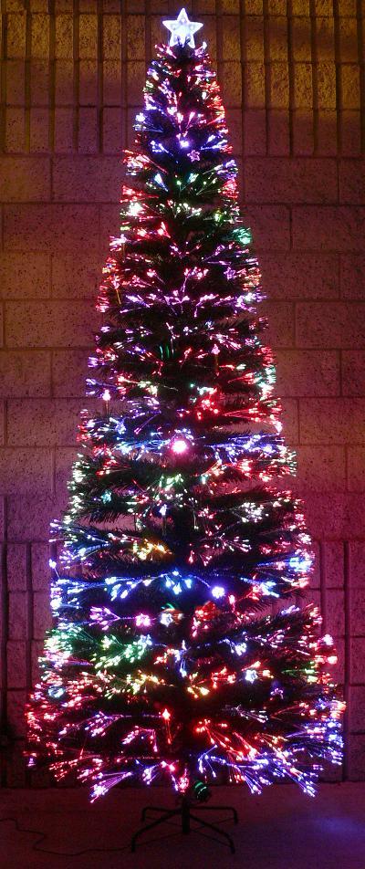 Fiber optic Christmas tree, optic angel, santa and lamp